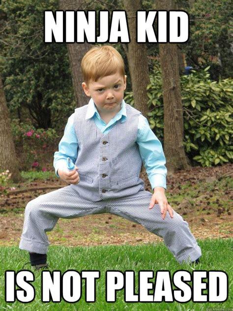 Ninja Memes - what up mah ninjas ninja kid quickmeme