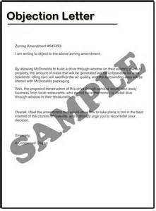 Letter Of Objection Template how to write an objection letter sles