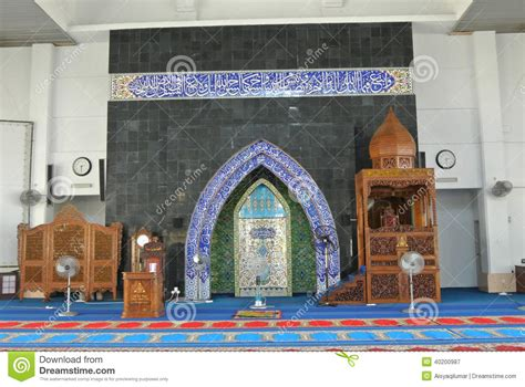 design mimbar masjid mimbar and mihrab of kipsas mosque in pahang stock photo