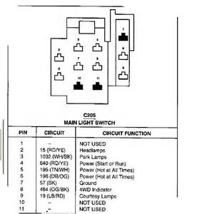 97 mustang headlight switch wiring diagram wiring