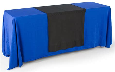 black plain table runner 30 quot wide tradeshow table accessory