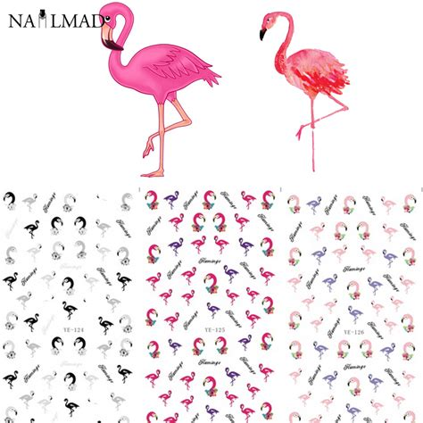 Sticker Water Decal Ble2335 aliexpress buy 3 patterns sheet colorful flamingo nail water decals transfer stickers nail