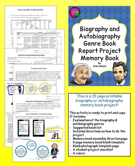 biography book reports biography autobiography genre book report memory book