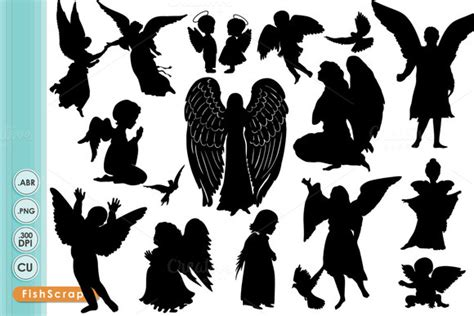 designing silhouettes of angels demo nativity angel silhouette 187 designtube creative design