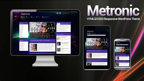 theme wordpress video responsive metronic wordpress theme html5 css3 responsive