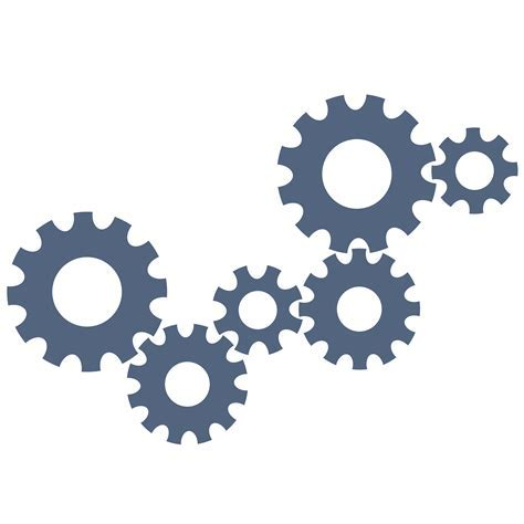 Gears clipart vector art   Pencil and in color gears
