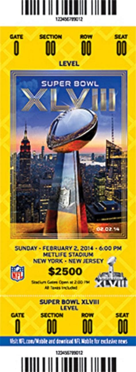 superbowl tickets super bowl tickets an evolution in photos picture super
