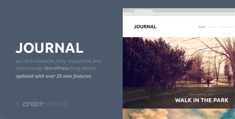 themeforest journal journal responsive readable wordpress blog theme by