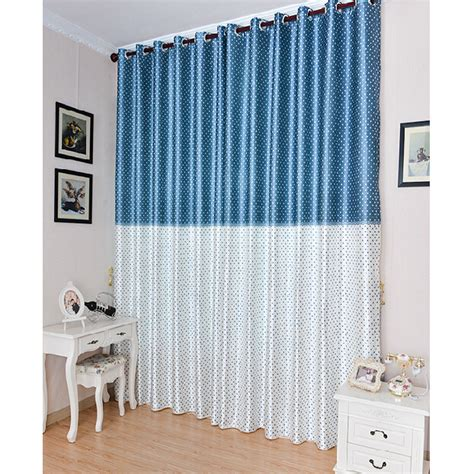 print curtains cheap cheap print blue white polyester blackout star curtains