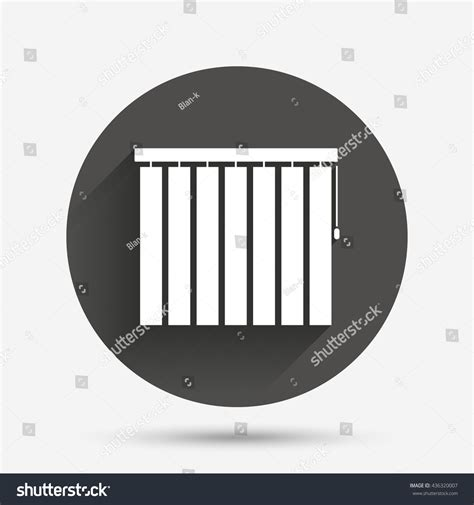 jalousie symbol louvers vertical sign icon window blinds stock vector