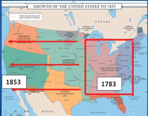 expansion of united states to 1833 map westward expansion map of the u s a the actions of