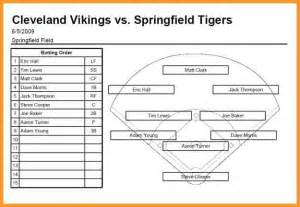 baseball lineup template softball lineup template letter format mail
