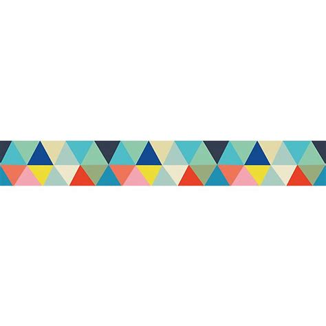Home Decoration Design by Frise Enfant Papier Peint Triangles Multicolores Ma