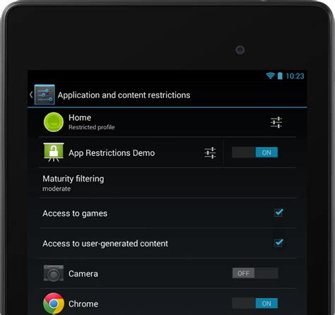 android restricted profiles android 4 3 feature focus multi user with restricted profiles
