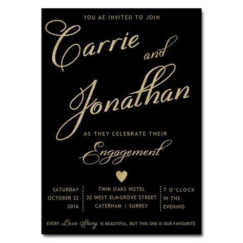 birthday invitations uk black gold engagement invitations