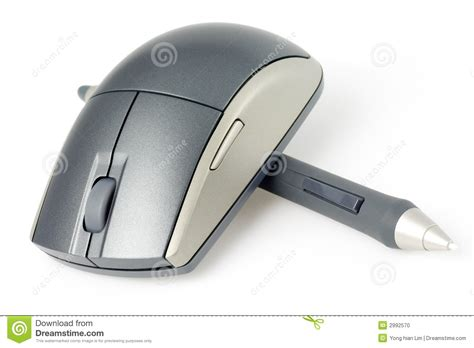 Digital Mouse Pen wireless mouse and digital pen stock photo image 2992570