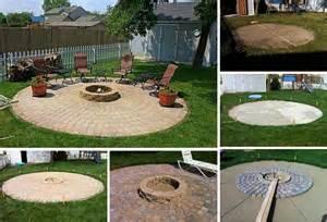 fire pit tutorial  beautiful handmade circular fire pit sitting area