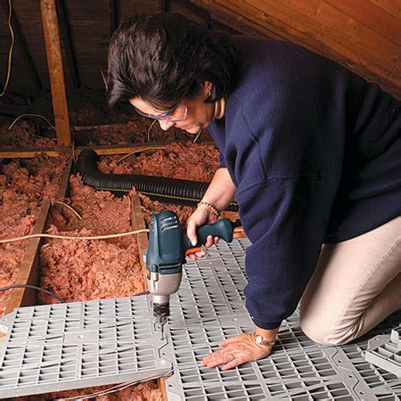 How To Finish An Attic Floor by Easy Install Attic Dek Recycled Plastic Modular Flooring