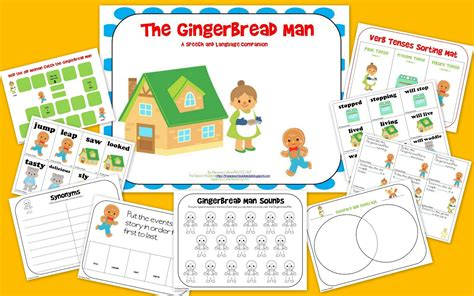 gingerbread man board game printable the gingerbread man speech and language book companion