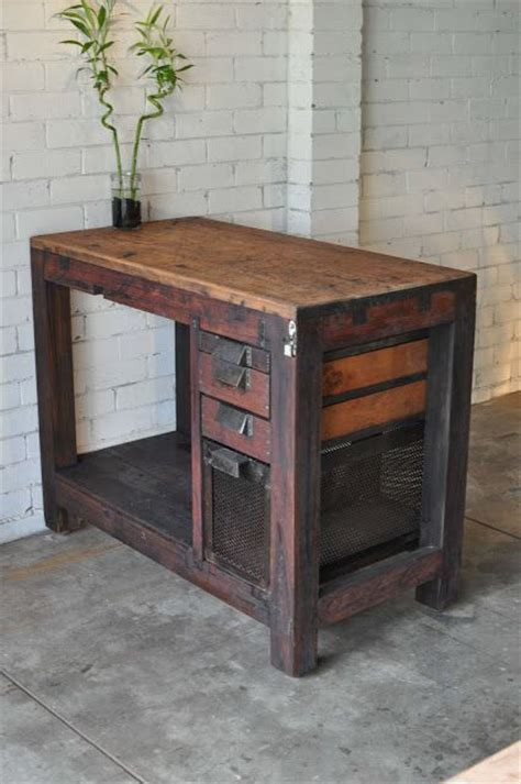 industrial kitchen islands vintage industrial kitchen island bench home pinterest
