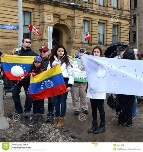imagenes sos venezuela protesta el sos venezuela en ottawa imagen editorial