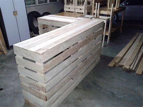 how to build a reception desk pallet desk counter or reception desk pallet furniture diy
