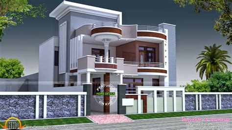 100 Gaj Sq Ft 2875 square feet flat roof home keralahousedesigns