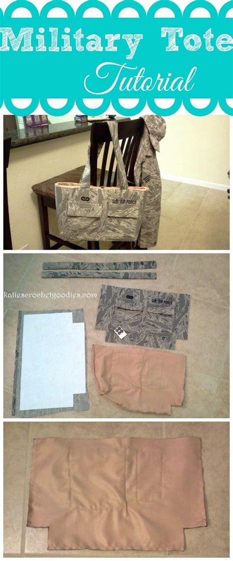 military tote bag pattern how to make a uniform tote military pinterest