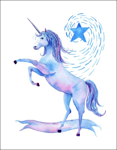 printable unicorn free printable watercolor unicorn pictures unicorn