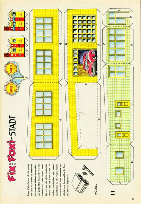 1959 Shell Gas Station Pt 1 Paper Dolls Paper Toys Pinterest Shell Gas Station And Shells Gas Station Website Template