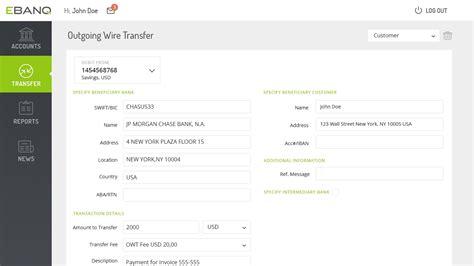 wire transfer bank account ebanq wire transfer