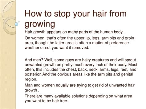 how to to stop how to stop your hair from growing