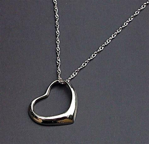 cadenas de plata con iniciales para hombres dije de corazon con cadena en plata fina ley 925 open