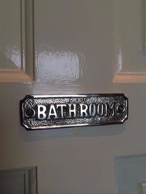 bathroom door signs vintage toilet bathroom door sign plaque with screws solid