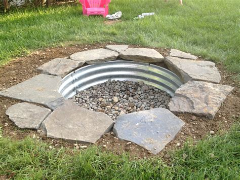 How To Build A Firepit In The Ground Built My In Ground Pit This Weekend Fireplace Firepit Diy Pits