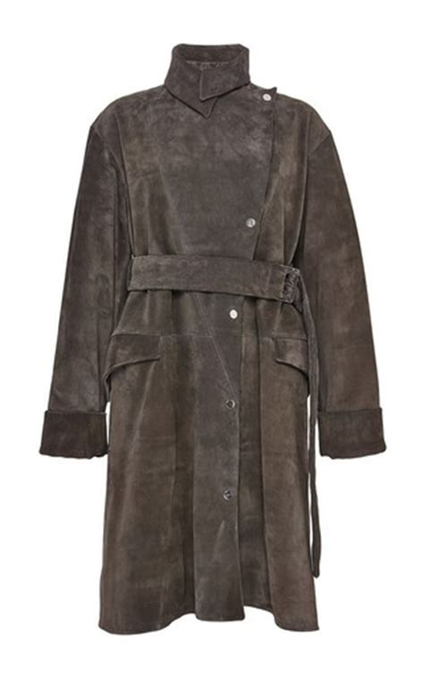 Cuci Gudang Jaket Raincoat Jws Inner pink suede asymmetric trench coat by jw moda operandi