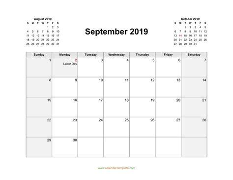 september  calendar template