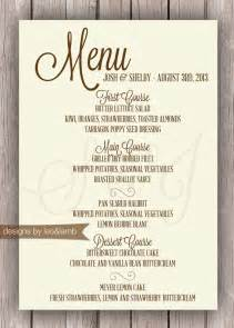 rehearsal dinner menu template items similar to wedding or rehearsal dinner menu