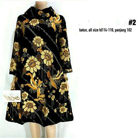 jual tunik big size batik modern dress batik xxxl baju