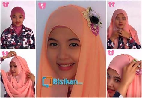 tutorial hijab pesta yang mudah tutorial hijab pashmina untuk pesta yang anggun mudah dan