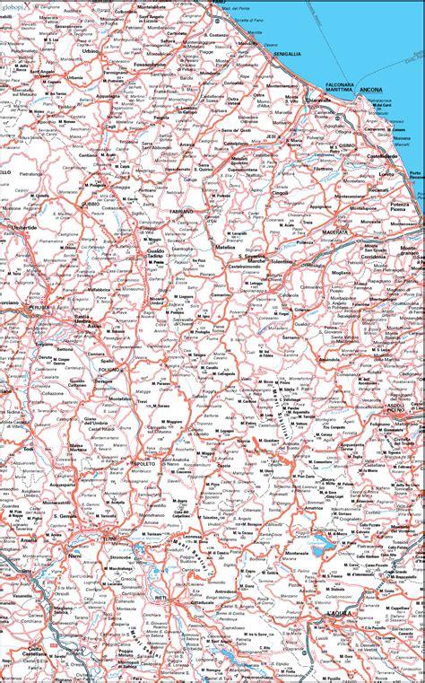 delle mrche cartina stradale marche umbria abruzzo mappa marche umbria