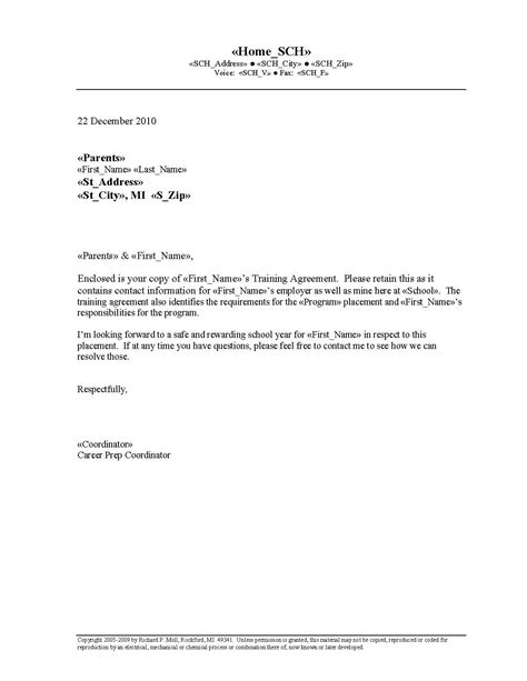 letter of understanding template business reference recommendation