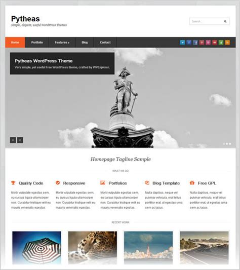 wordpress theme free company website 20 best professional free corporate business wordpress