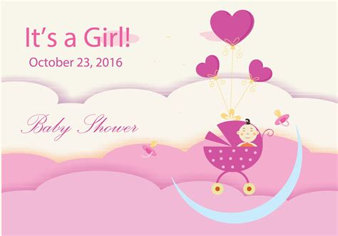 Baby Shower A by Baby Shower Design Free Vector Stock
