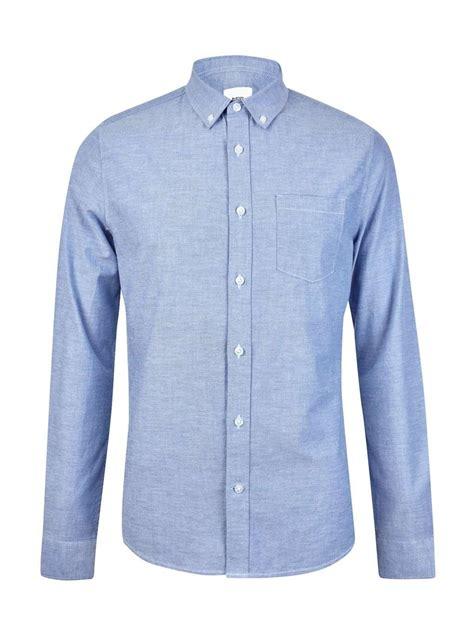 light blue shirt light blue sleeve oxford shirt burton menswear