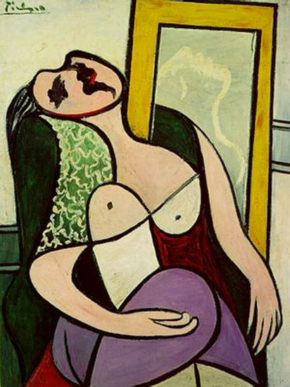 picasso paintings in mirror pablo picasso the sleeper in the mirror th 233 r 232 se