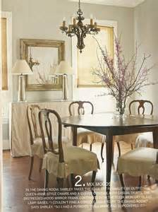 Slipcovered Dining Room Chairs Slip Skirts Ls Buffet Dining Spaces