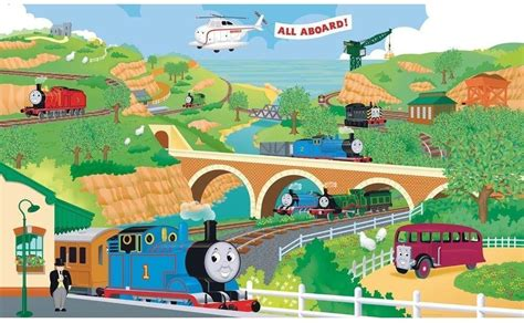 Thomas The Tank Engine Wall Stickers thomas wallpapers wallpaper cave