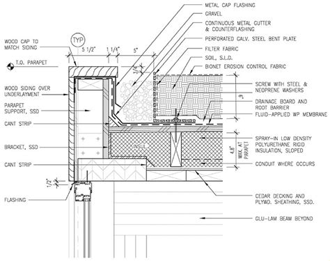 roof section detail green roof detail details pinterest green roofs