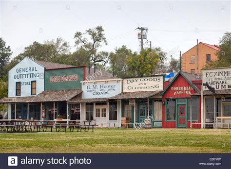 Dodge City faux western storefronts dodge city kansas stock photo